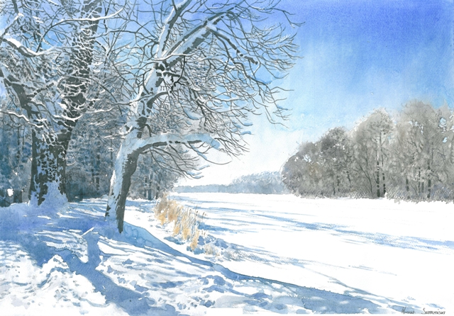 Images Of Paintings Of Winter Scenes